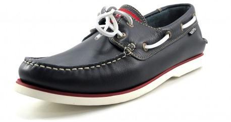 zapato náutico azul