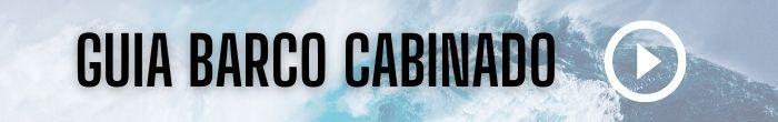 rotulo con fondo de agua y texto ayuda barco cabinado